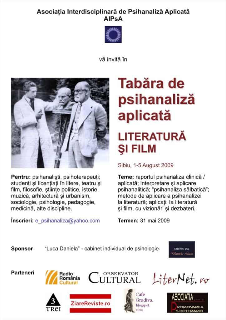 """""""Psihanaliză şi film"""" la Sibiu"""