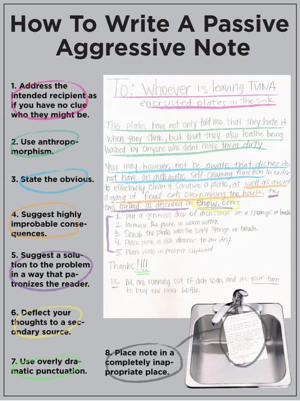 Cum să scrii un bilet pasiv-agresiv