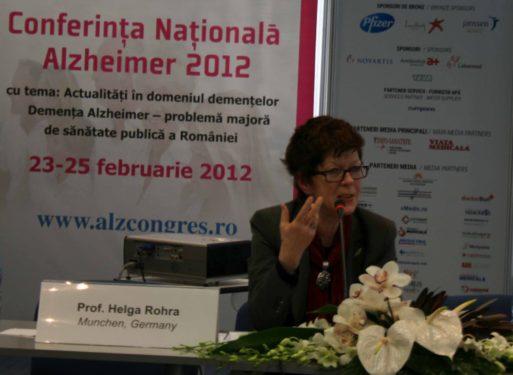Despre Alzheimer, de la un pacient: Helga Rohra. A doua zi a Conferintei Nationale Alzheimer