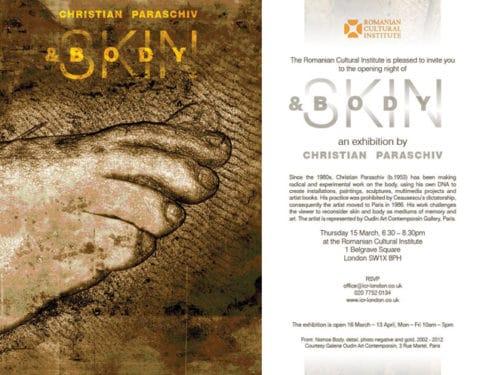 Gloria şi limitele corpului: expoziţie bio-art de Christian Paraschiv @ ICR Londra
