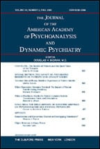 "Table of Contents of the ""Journal of the American Academy of Psychoanalysis and Dynamic Psychiatry"", June 2011"
