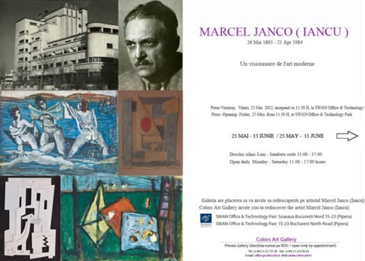 "Marcel Ianco (Iancu) ""Un visionaire de l'art moderne"" @ Colors-Art Gallery Bucharest"