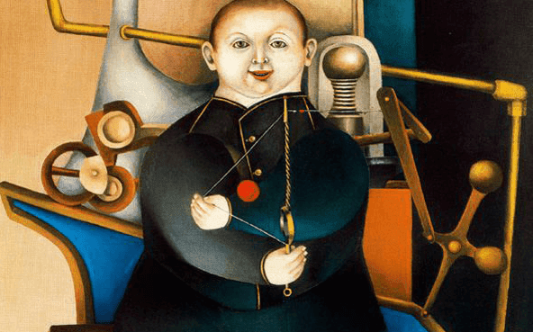 Richard Lindner Boy with Machine 1954 Anti-Oedipe