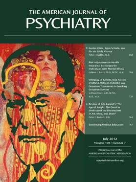 The American Journal of Psychiatry, July 01, 2012, Vol. 169, No. 7