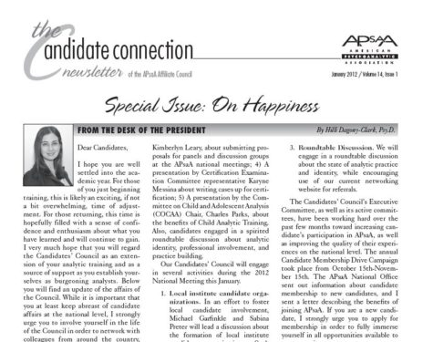"The Candidate Connection Newsletter Special Issue ""On Happiness"""