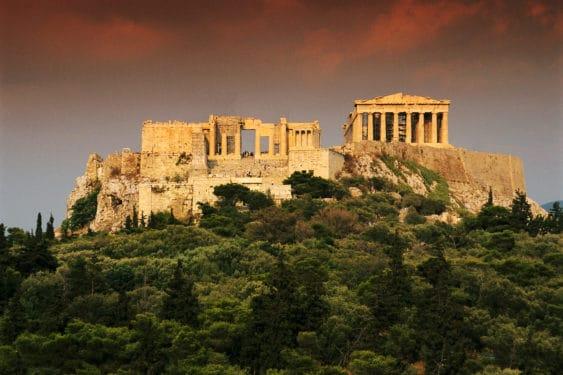 Rugăciune pe Acropolis
