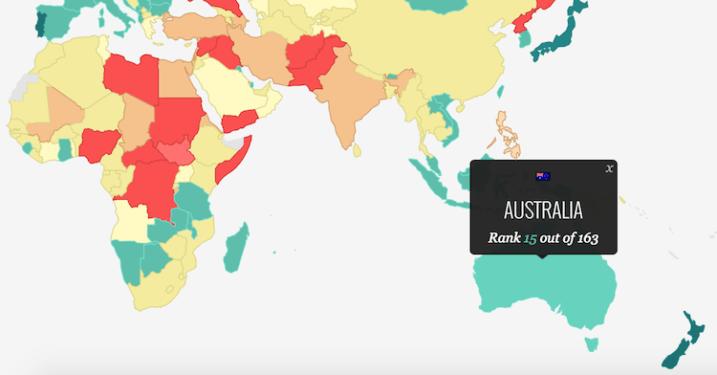 Cele mai pasnice tari din lume in 2016