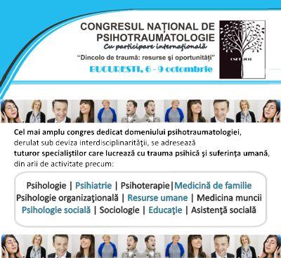 Congresul Naţional de Psihotraumatologie 2011 îşi deschide porţile la 6 octombrie