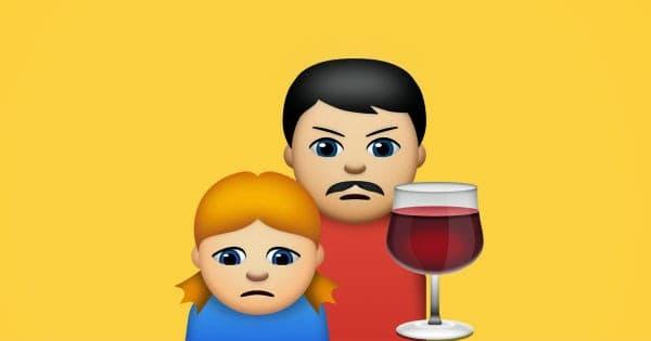 emoji abuzati parinte dependenta de alcool