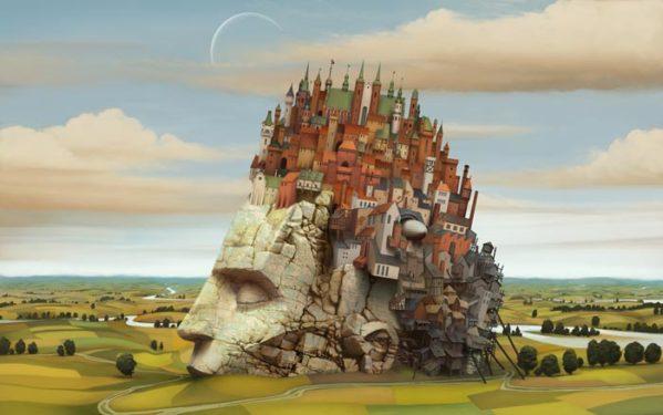 interpretarea viselor freud vis Jacek Yerka - Dream World .jpg