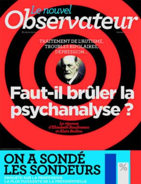 Le Nouvel Observateur, Faut-il brûler la psychanalyse ?, 19-25 avril 2012