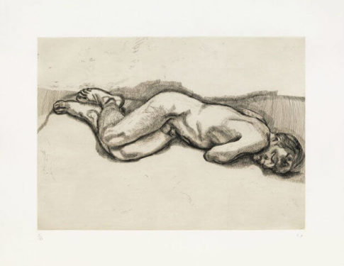 lucian freud naked man on a bed berlin sigmund