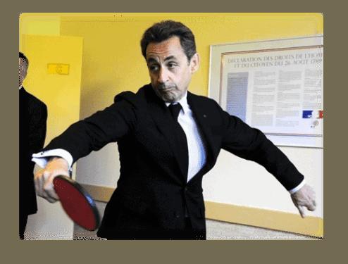 nicolas sarkozy ping-pong
