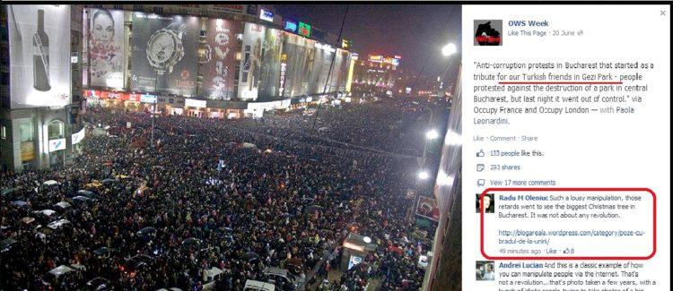 Proteste în Bucureşti. Românii au ieşit în stradă în semn de solidaritate cu fraţii turci