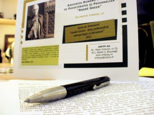 """Al VII-lea seminar din seria """"André Green - între psihanaliză, antropologie și literatură"""": """"Travaliul analitic şi travaliul creator, de la Sigmund Freud la André Green"""", Bucureşti, 14-15 mai 2011"""