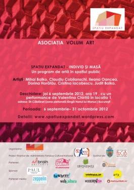 """Proiectul artistic """"Spațiu expandat – individ şi masă"""", Bucureşti, 6 septembrie 2012"""